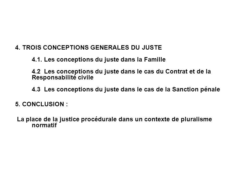4. TROIS CONCEPTIONS GENERALES DU JUSTE 4.1.