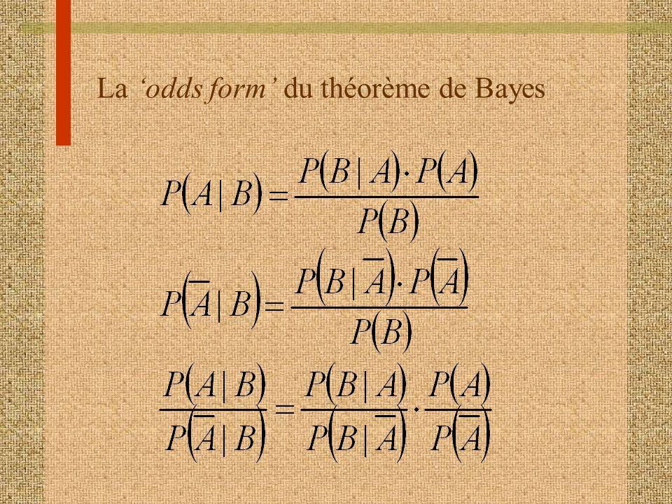 La odds form du théorème de Bayes