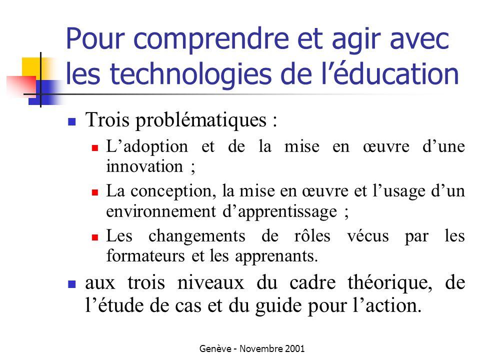Genève - Novembre 2001 Une innovation pérenne .La fin des études pilotes..