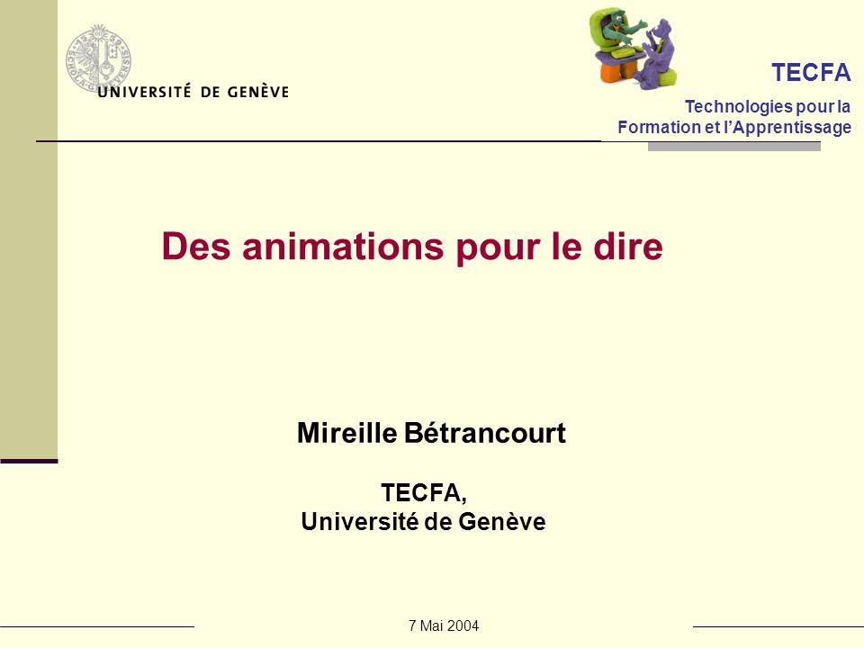 7 Mai 2004 Le principe multimedia : les animations NEW Attirer lattention Informer sur létat dun processus