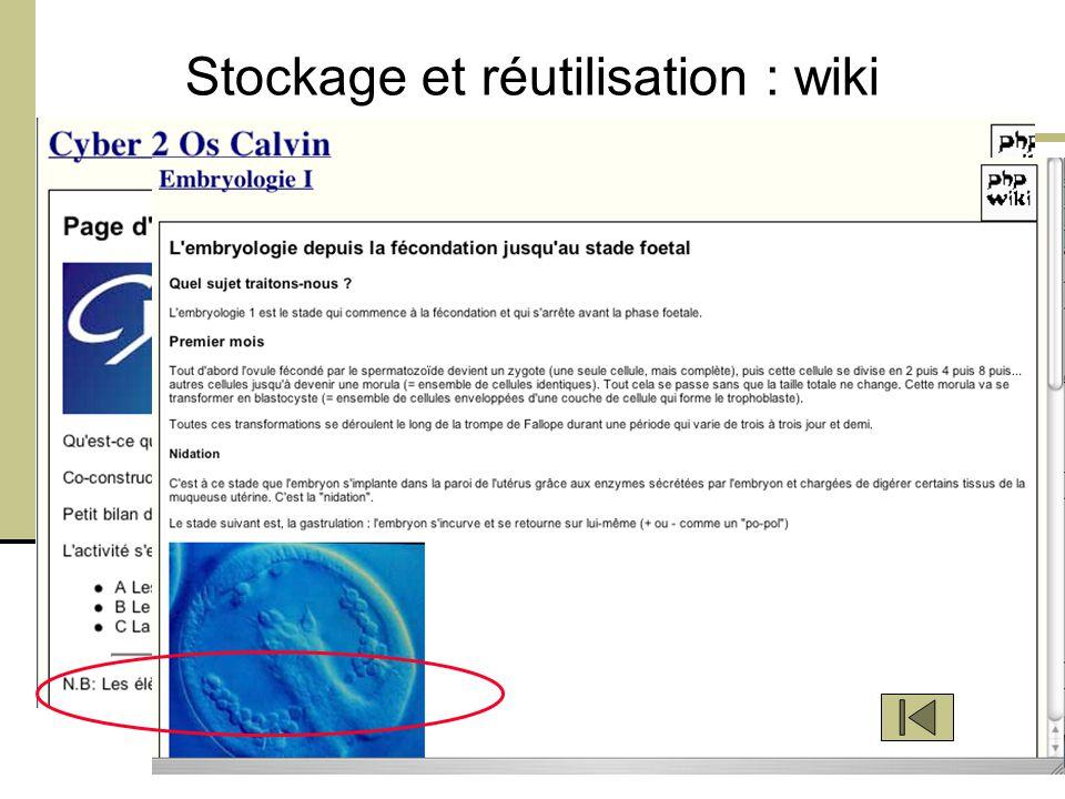 Orléans, CFA, 20 Mars 2008 - M. Bétrancourt 8 Stockage et réutilisation : wiki