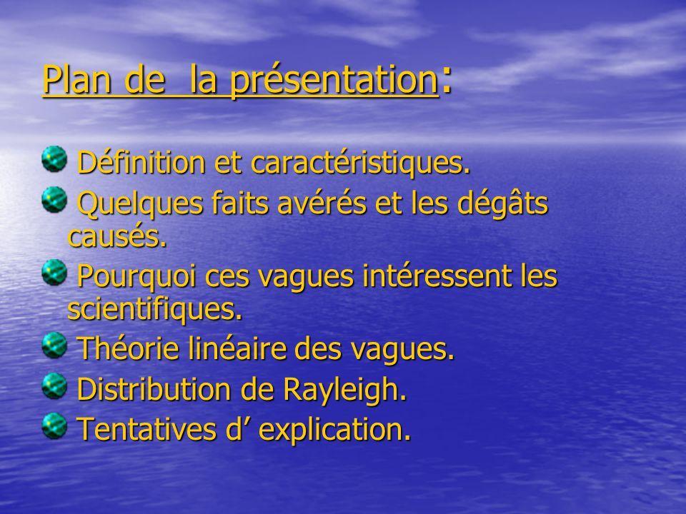 Plan de la présentation : Définition et caractéristiques.
