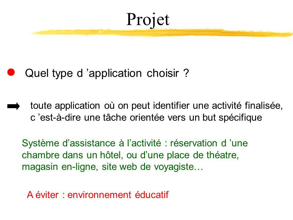 Quel type d application choisir .