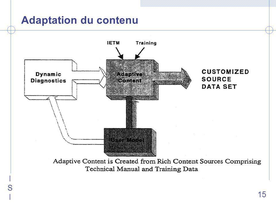 ISIISI 15 Adaptation du contenu