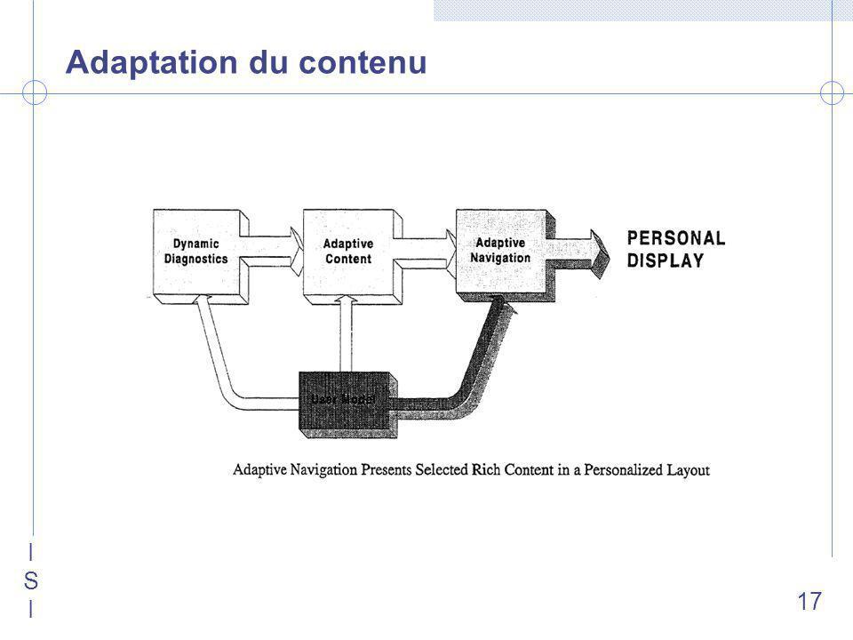 ISIISI 17 Adaptation du contenu