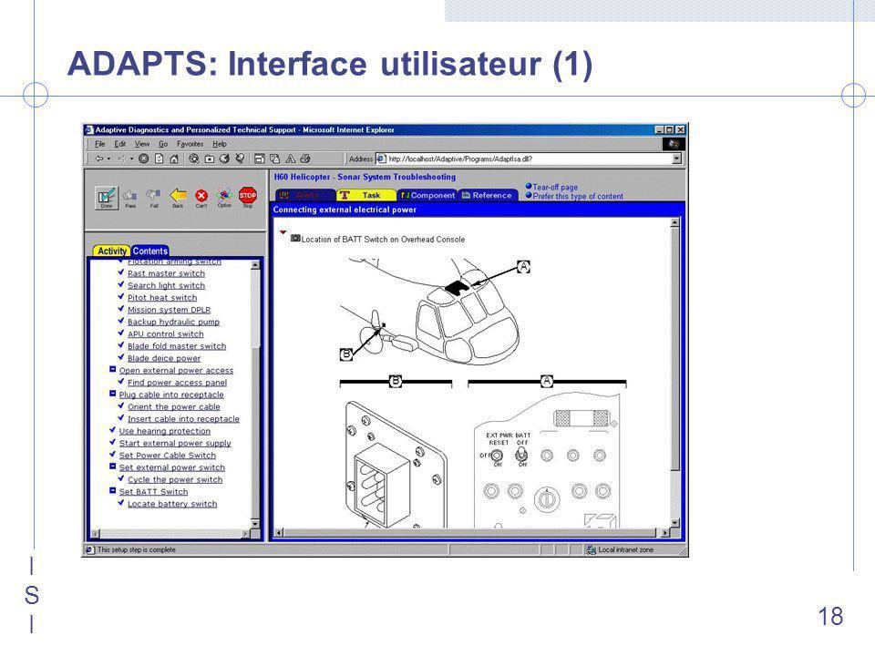 ISIISI 18 ADAPTS: Interface utilisateur (1)