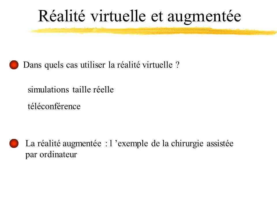 Réalité virtuelle et augmentée simulations taille réelle téléconférence Dans quels cas utiliser la réalité virtuelle .