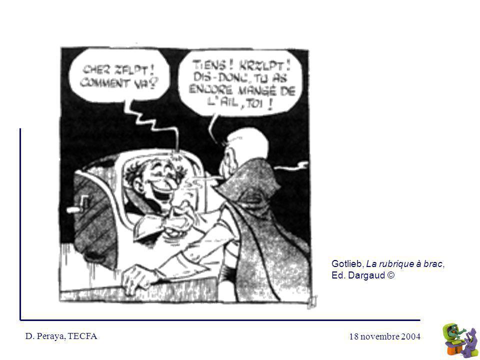 D. Peraya, TECFA Gotlieb, La rubrique à brac, Ed. Dargaud ©