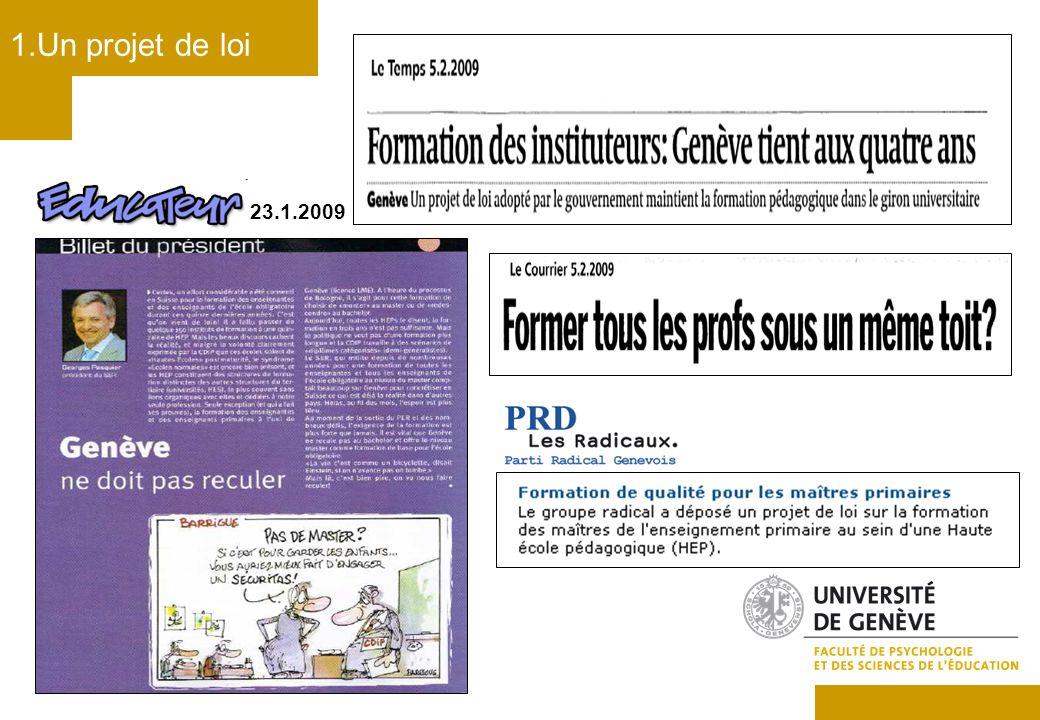 Sources : www.geneve.ch/dip/doc/actu/2009/090204_cp_formation_enseignants.pdf www.geneve.ch/grandconseil/data/texte/PL10432.pdf 2.Format des études