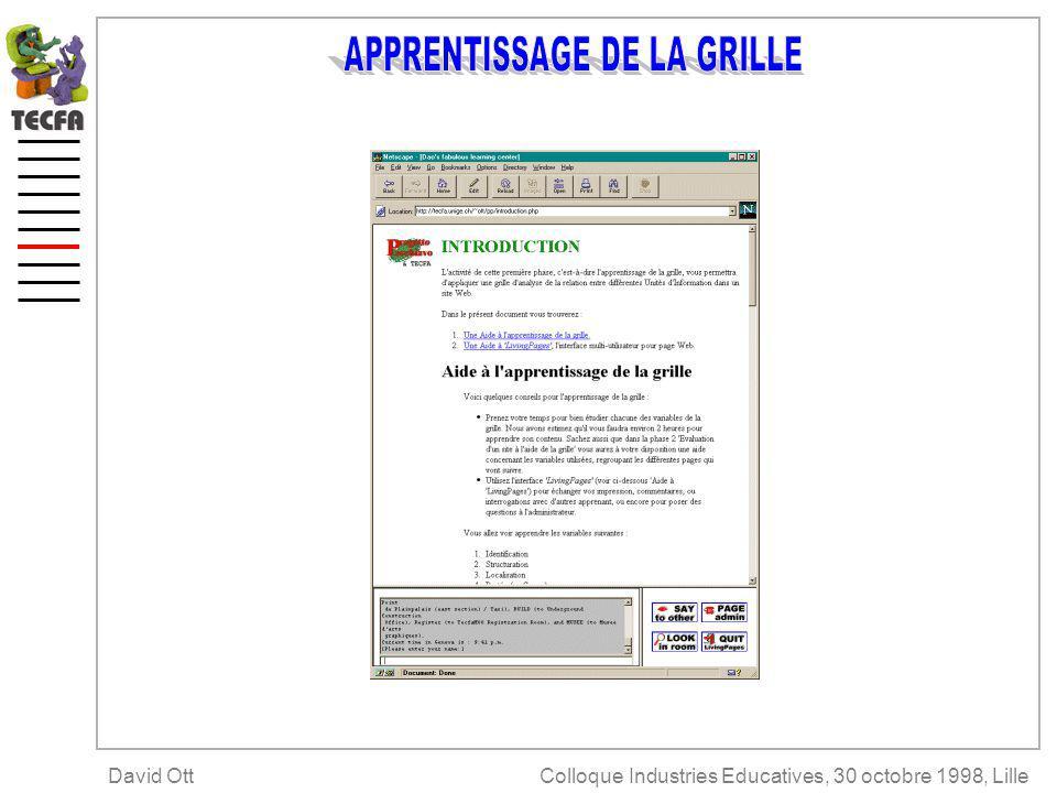Colloque Industries Educatives, 30 octobre 1998, LilleDavid Ott