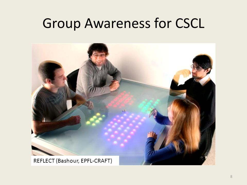 Group Awareness for CSCL 8 REFLECT (Bashour, EPFL-CRAFT)