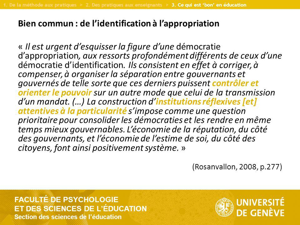 FACULTÉ DE PSYCHOLOGIE ET DES SCIENCES DE LÉDUCATION Section des sciences de léducation Merci de votre attention.
