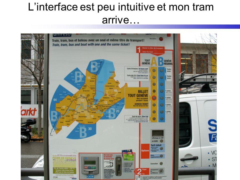 Linterface est peu intuitive et mon tram arrive…
