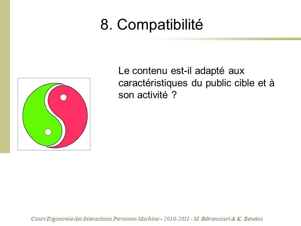 Cours Ergonomie des Interactions Personne-Machine – 2010-2011 - M.