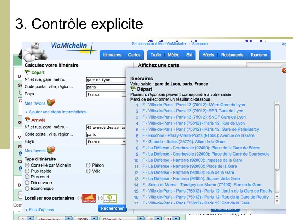 Cours Ergonomie des Interactions Personne-Machine - 09-10 - M. Bétrancourt & L. Gagnière 3. Contrôle explicite 3.1. Actions explicites