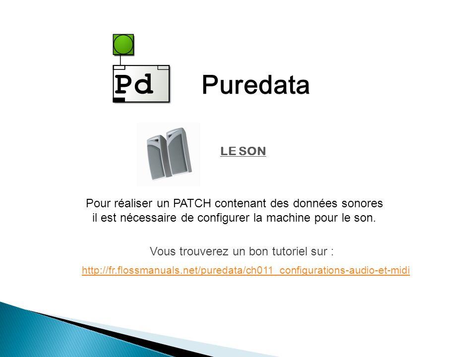 Puredata Pour réaliser un PATCH contenant des données sonores il est nécessaire de configurer la machine pour le son.