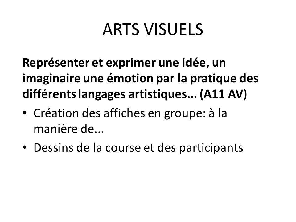 Représenter et exprimer une idée, un imaginaire une émotion par la pratique des différents langages artistiques...
