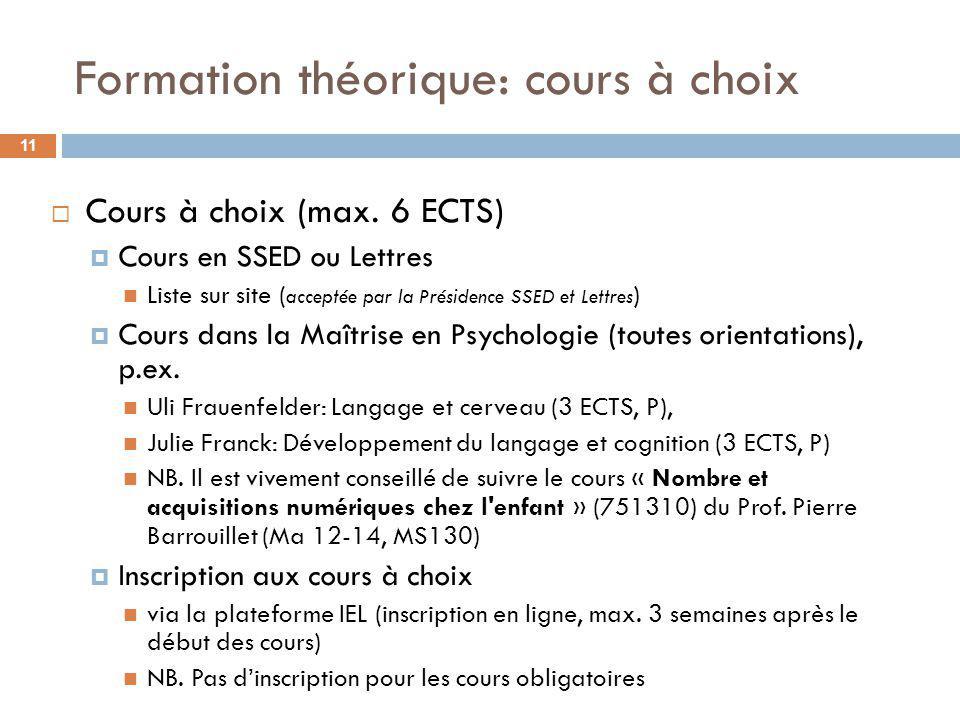 Formation théorique: domaine médical 12 Semestre automne Prof.