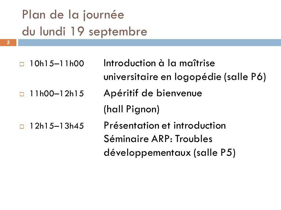 Plan de la séance 3 Introduction et présentation de léquipe Situation concernant ladmission Formation théorique Formation à la recherche Formation clinique Dispositions règlementaires diverses