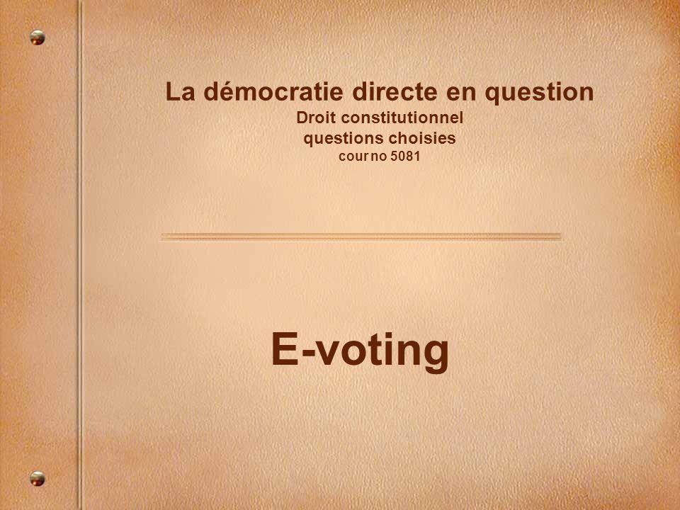 plan Introduction Définition Problèmes constitutionnels Le cadre fédéral Lexpérience genevoise Les cinq défis