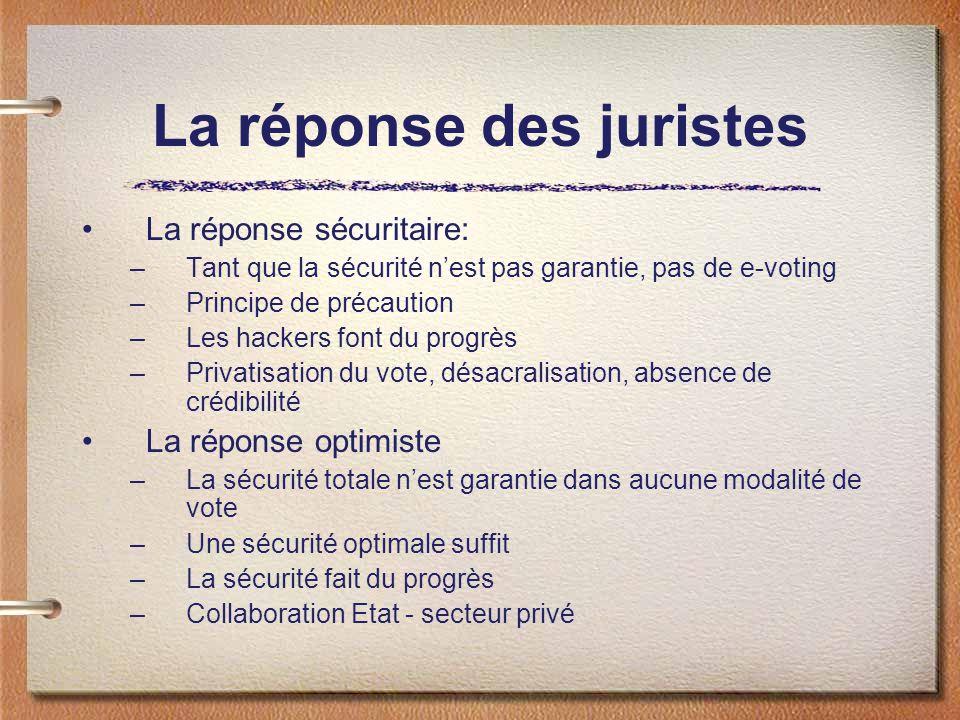 Le cadre fédéral Etudes depuis 1998 Rapport du Conseil fédéral sur les chances, les risques et la faisabilité du vote électronique (FF 2002 612): il faut procéder par étapes, et dabord mener des projets pilotes Juin 2002: modification de la LDP( art.