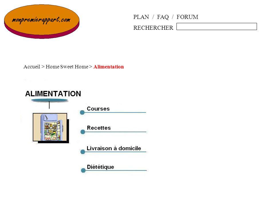PLAN / FAQ / FORUM RECHERCHER Alimentation Accueil > Home Sweet Home > Alimentation