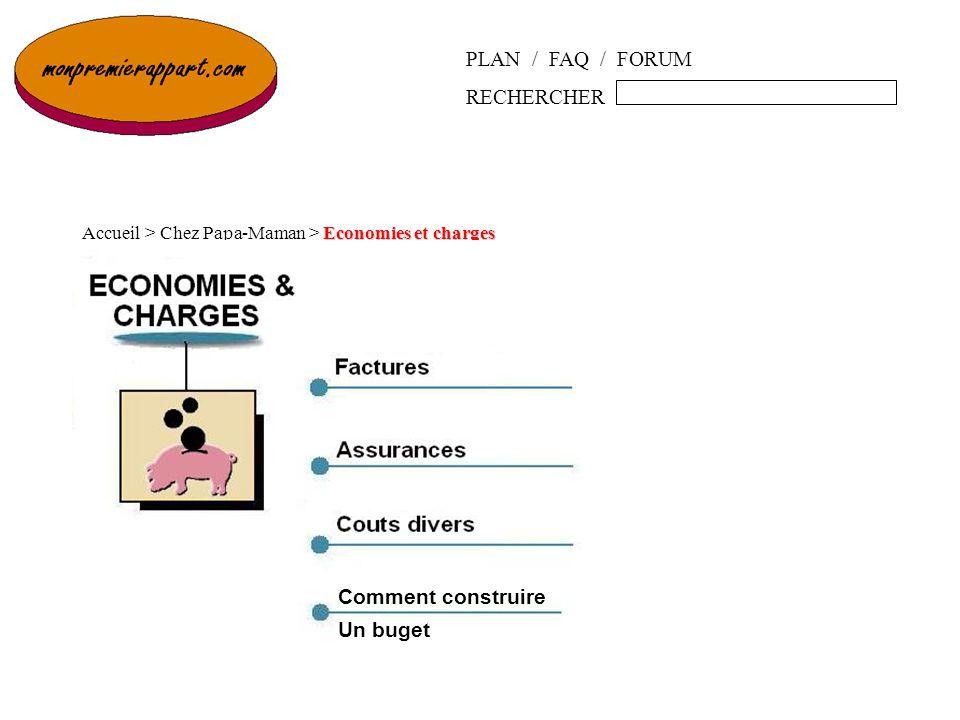 PLAN / FAQ / FORUM RECHERCHER Economies et charges Accueil > Chez Papa-Maman > Economies et charges Comment construire Un buget