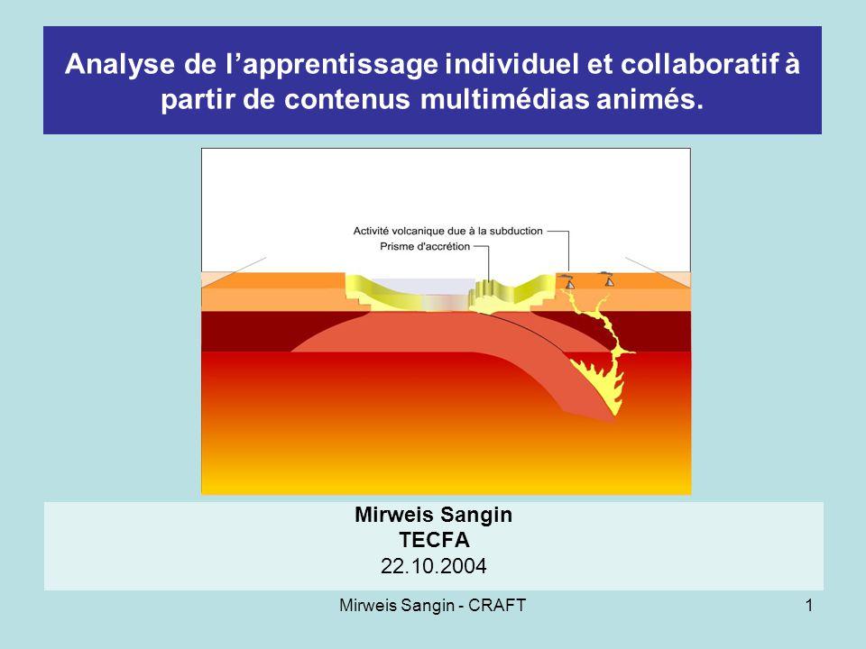 Mirweis Sangin - CRAFT12 Résultats La variable « permanence » Discussion :