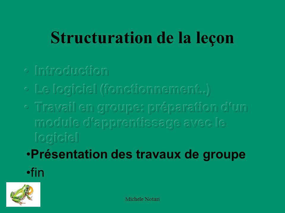 Michele Notari Thèmes des travaux de groupe : 1.écosystème étang (description, sinécologie) 2.Le langage des amphibiens.
