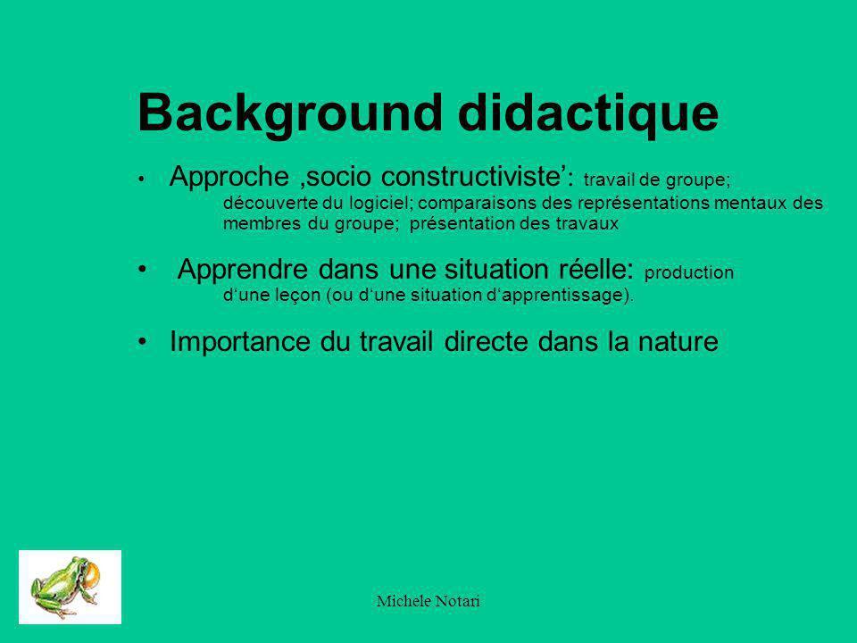 Michele Notari Background didactique Le dogme Schneiderienno.1 de lapprentissage : - Apprendre cest souffrir TIC, une méthode comme une autre.