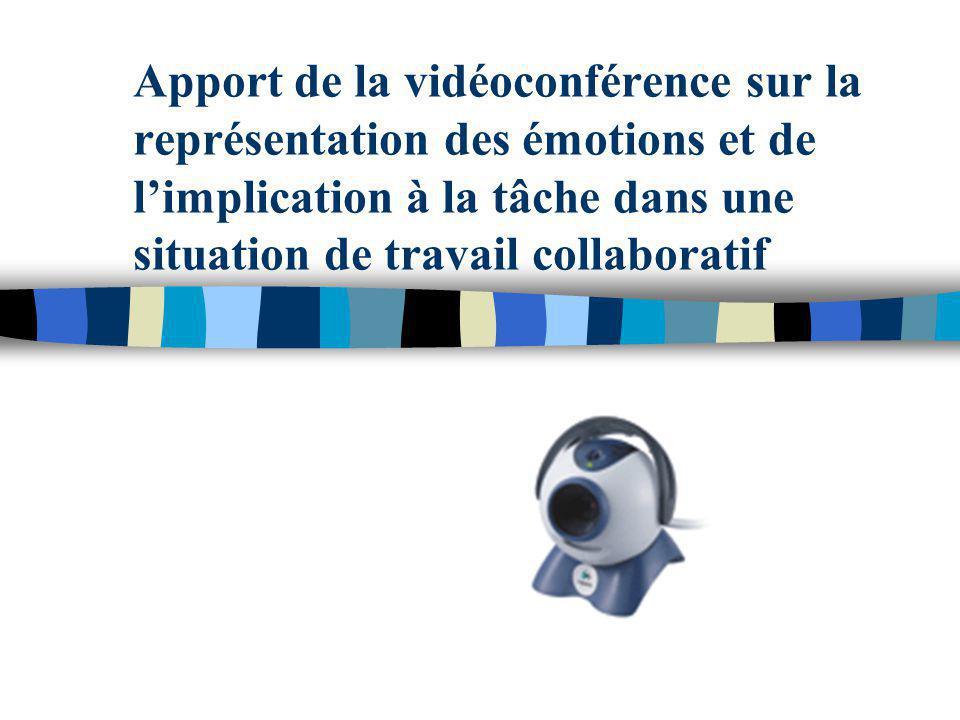 Apport de la vidéoconférence sur la représentation des émotions et de limplication à la tâche dans une situation de travail collaboratif