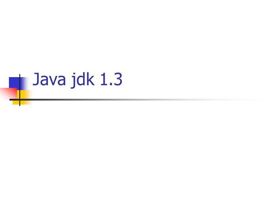 Java jdk 1.3