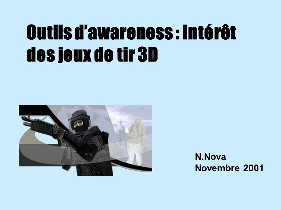 Outils dawareness : intérêt des jeux de tir 3D N.Nova Novembre 2001