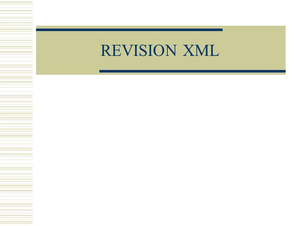 REVISION XML