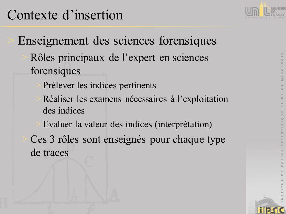 Contexte dinsertion >Enseignement des sciences forensiques >Rôles principaux de lexpert en sciences forensiques >Prélever les indices pertinents >Réal