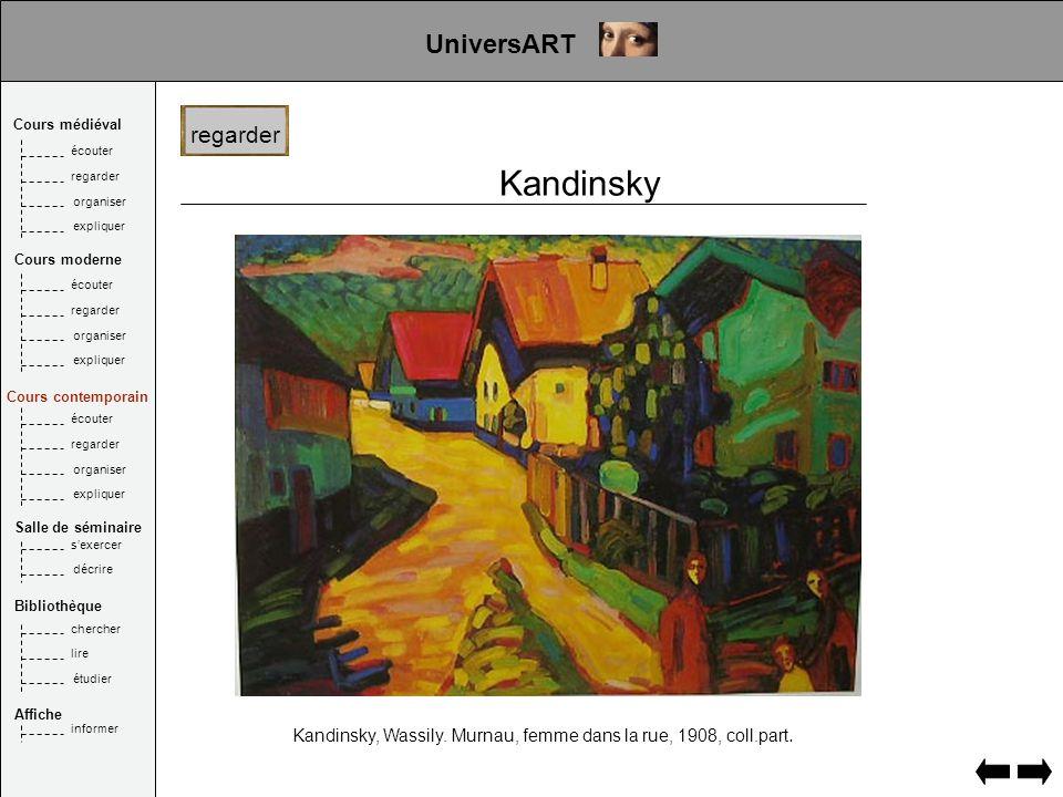 Kandinsky Kandinsky, Wassily. Murnau, femme dans la rue, 1908, coll.part.