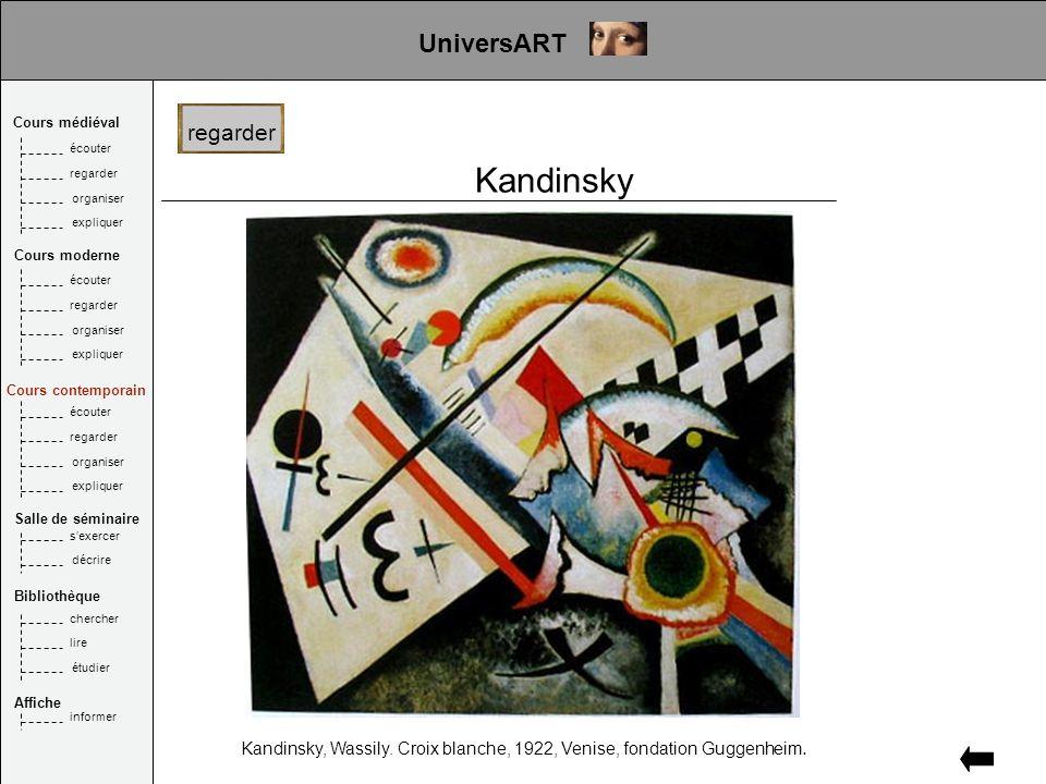 Kandinsky Kandinsky, Wassily. Croix blanche, 1922, Venise, fondation Guggenheim.