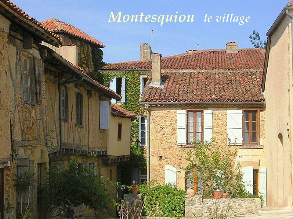 Bassoues Le village La halle