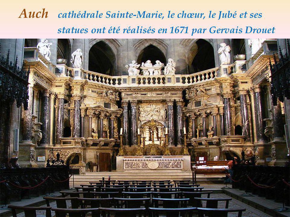 Auch cathédrale Sainte-Marie, Le Chœur, Stalles de chêne. sculpté entre 1510 et 1552