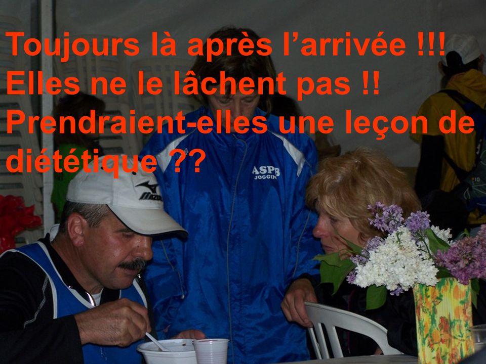 Avant le départ Et bien non, cest sur la ligne darrivée !!! La fraicheur est surprenante !!!