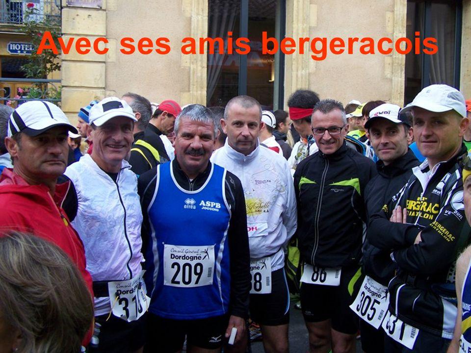 Eric au départ des 100km de Belvès avec ses fidèles supporteurs