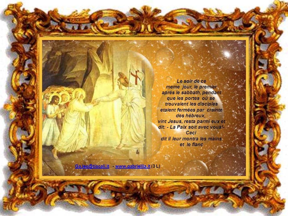 Jesus lui dit : - Ne me retient pas, car je ne suis encore monté au Pere; mais va chez mes fréres et dis leur: je monte chez mon Pere et votre Pere. M