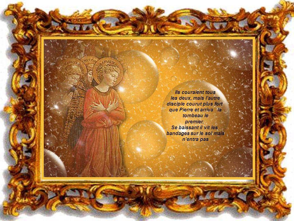 . Elle courut alors chez Simon Pierre et chez lautre disciple, celui que Jèsus aimait, et Elle leur dit: - Ils ont enlevé le Seigneur du tombeau! - Si
