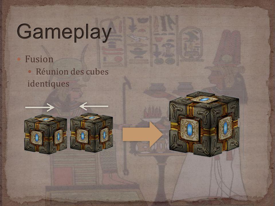 Fusion Réunion des cubes identiques