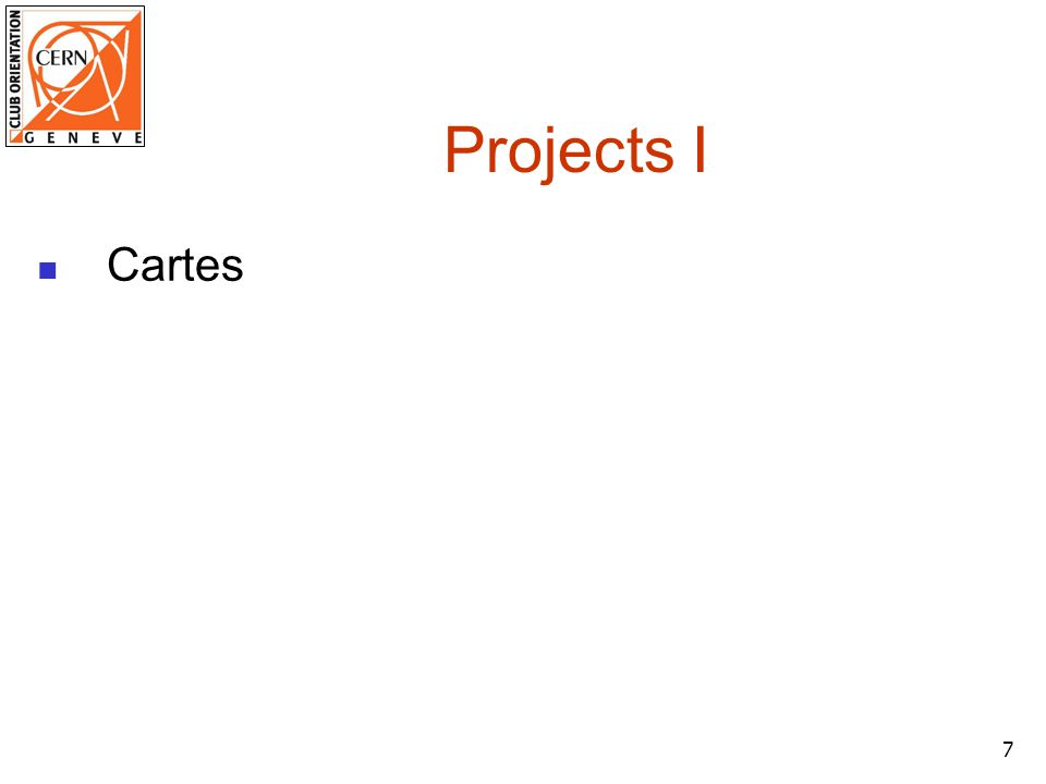 7 Projects I Cartes