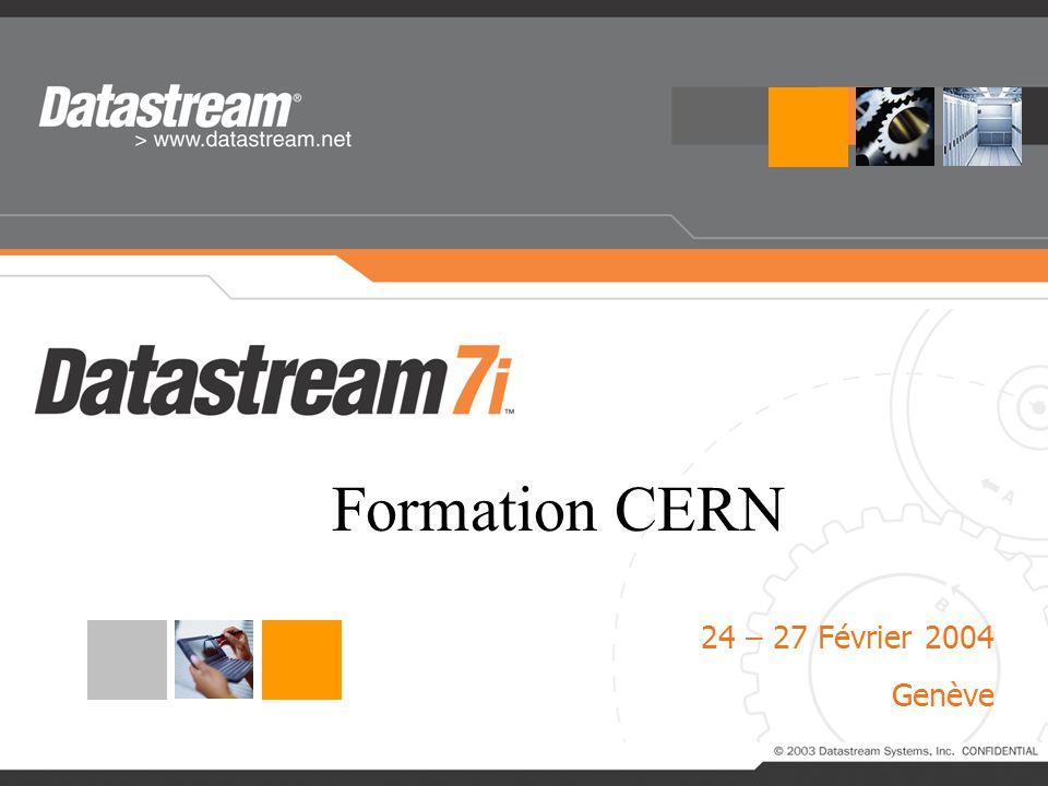 Formation CERN 24 – 27 Février 2004 Genève