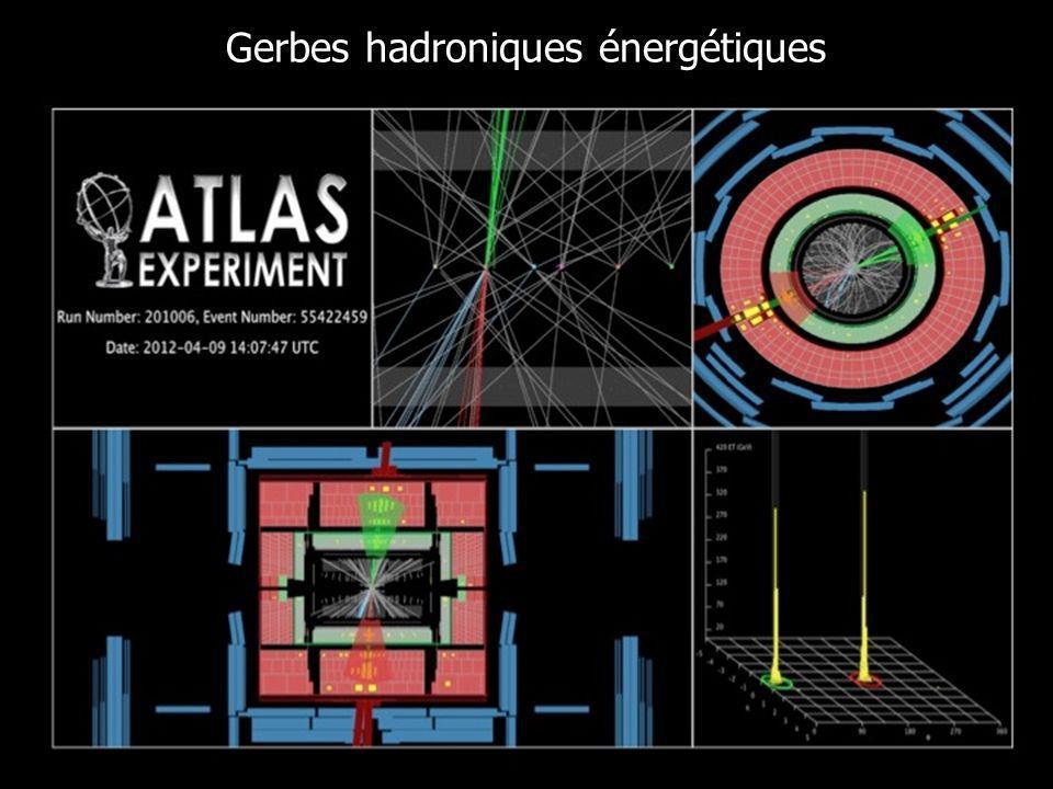 13 Gerbes hadroniques énergétiques
