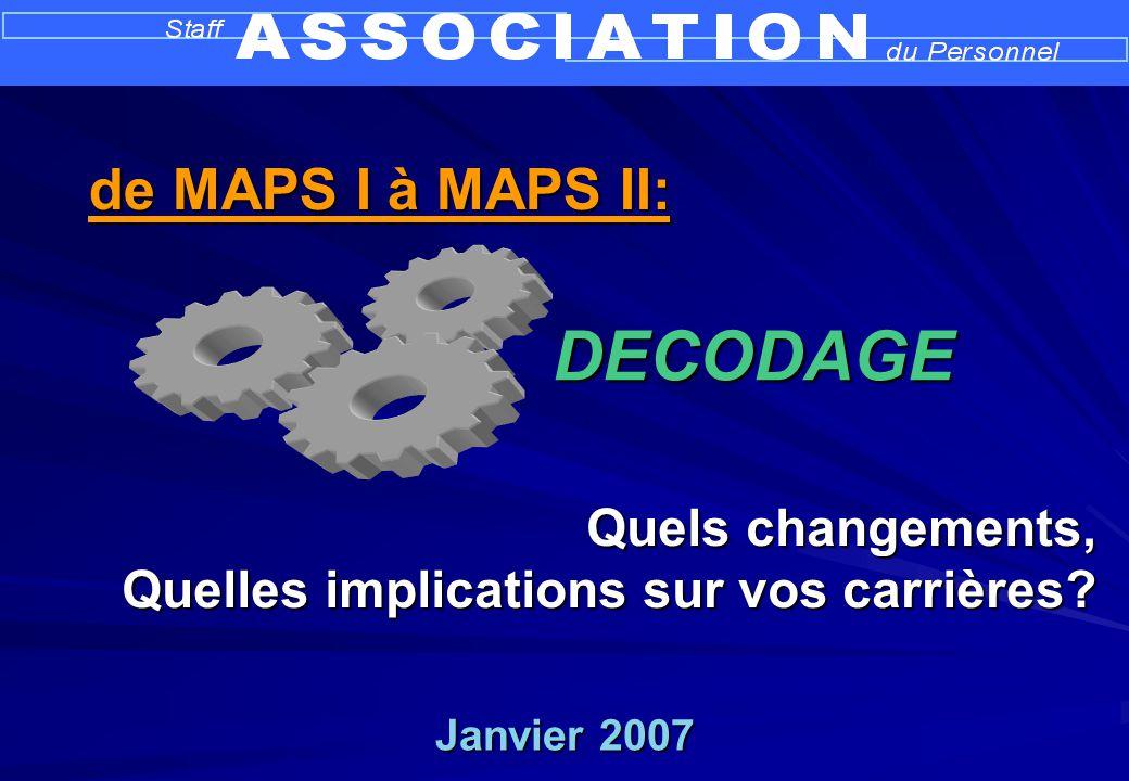 Janvier 2007 Quels changements, Quelles implications sur vos carrières.