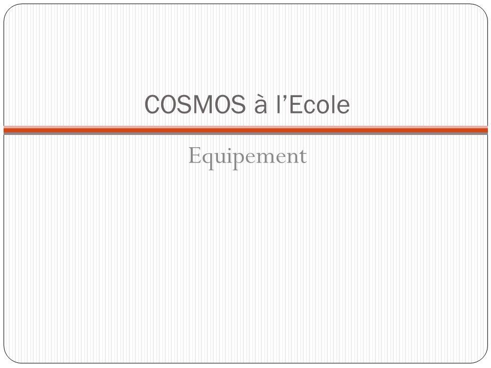 COSMOS à lEcole Equipement Le détecteur: la roue cosmique développé au CPPM (laboratoire de lIN2P3) Développé par José Busto au CPPM Cécile Barbachoux stage CER N, 14 juin 2010 Elèves au L2IP (Jaunay-Clan, ac.
