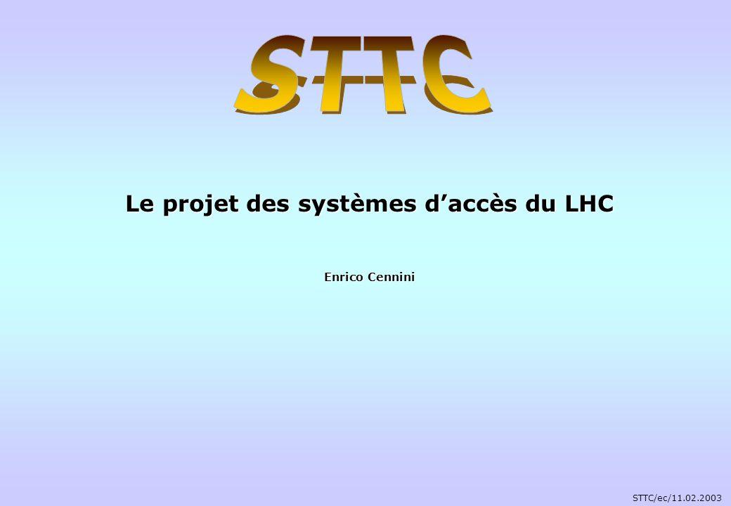 Le projet des systèmes daccès du LHC Enrico Cennini STTC/ec/11.02.2003